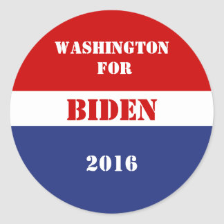 Washington for Joe Biden 2016 Classic Round Sticker