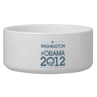 WASHINGTON FOR OBAMA 2012.png Dog Bowls