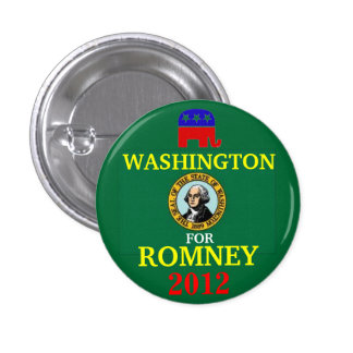 Washington for Romney 2012 1 Inch Round Button