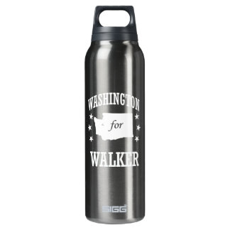 WASHINGTON FOR WALKER 16 OZ INSULATED SIGG THERMOS WATER BOTTLE
