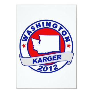 Washington Fred Karger 5x7 Paper Invitation Card