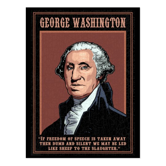 Washington -Free Speech Postcard