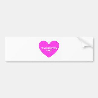 Washington Girl Bumper Sticker
