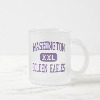 Washington - Golden Eagles - High - Tuskegee 10 Oz Frosted Glass Coffee Mug
