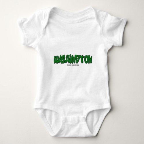 Washington Graffiti Baby Bodysuit