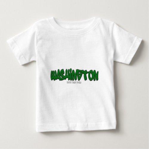Washington Graffiti Baby T_Shirt