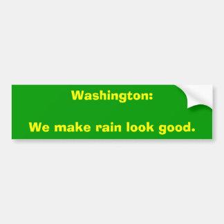 Washington: Hacemos mirada de la lluvia buena Pegatina Para Auto