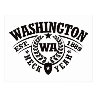 Washington, Heck Yeah, Est. 1889 Postcard