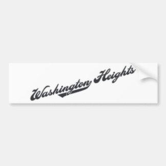 Washington Heights Car Bumper Sticker