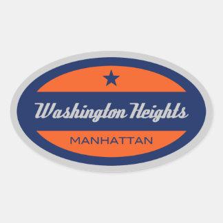 Washington Heights Oval Sticker