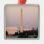 Washington, horizonte de DC Adorno Navideño Cuadrado De Metal