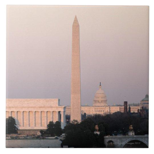 Washington, horizonte de DC Azulejo Cuadrado Grande
