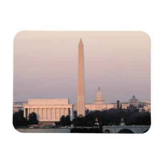 Washington, horizonte de DC Imán Foto Rectangular