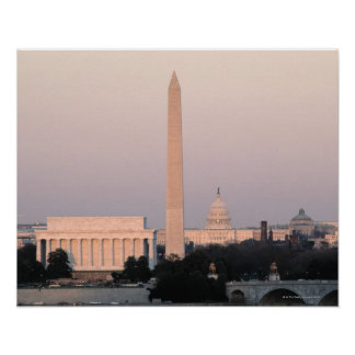 Washington, horizonte de DC Póster