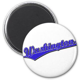 Washington in Blue 2 Inch Round Magnet