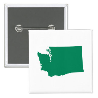 Washington in Green 2 Inch Square Button