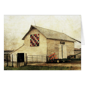 Washington, Iowa Red White and Blue Barn Quilt Card