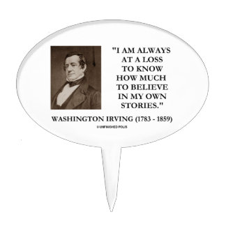 Washington Irving Always At A Loss Believe Stories Cake Topper