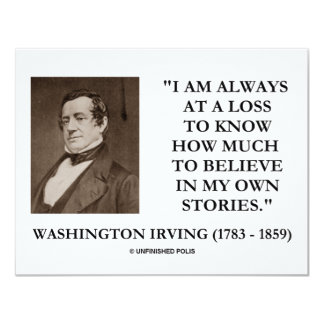 Washington Irving Always At A Loss Believe Stories Personalized Announcement
