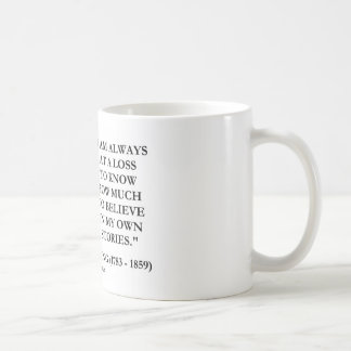 Washington Irving Always At A Loss Believe Stories Classic White Coffee Mug