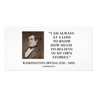 Washington Irving Always At A Loss Believe Stories Picture Card