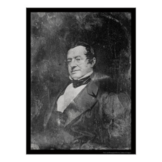 Washington Irving Daguerreotype 1855 Poster