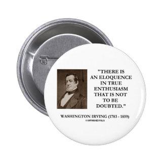 Washington Irving Eloquence In True Enthusiasm Pin