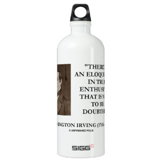 Washington Irving Eloquence In True Enthusiasm Water Bottle
