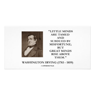 Washington Irving Little Minds Great Minds Quote Photo Greeting Card