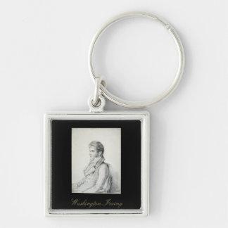 Washington Irving Portrait Keychain