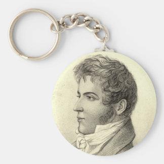 Washington Irving Portrait Key Chain