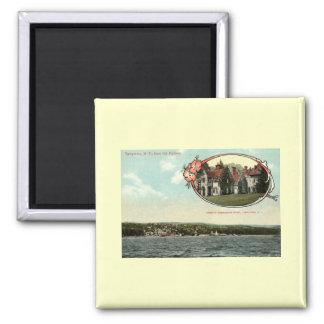 Washington Irving, Tarrytown, NY Vintage c1915 2 Inch Square Magnet