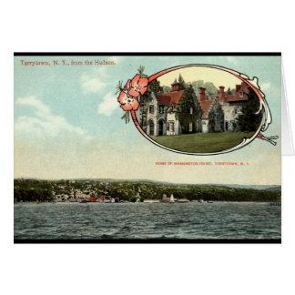 Washington Irving, Tarrytown, vintage c1915 de NY Tarjeta