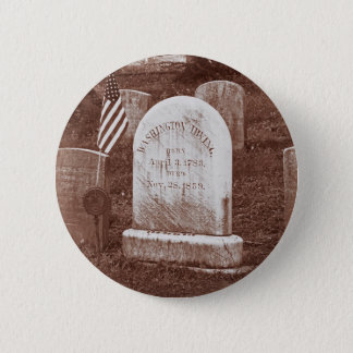 Washington Irving's tombstone Button