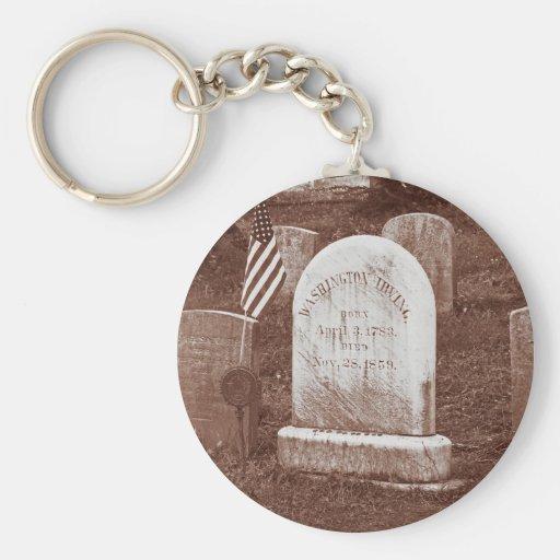 Washington Irving's tombstone Key Chain