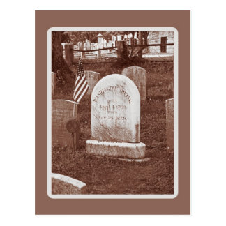 Washington Irving's tombstone Postcard