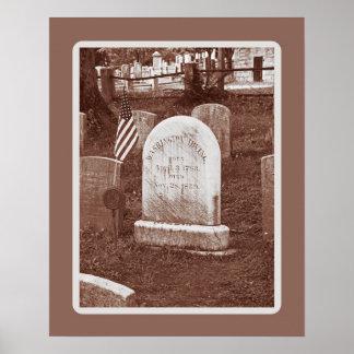 Washington Irving's tombstone Poster