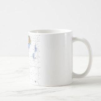 Washington Island, WI Nautical Chart Coffee Mug