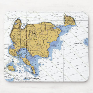 Washington Island, WI Nautical Chart Mousepad