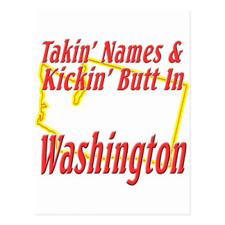 Washington - Kickin' Butt Postcard