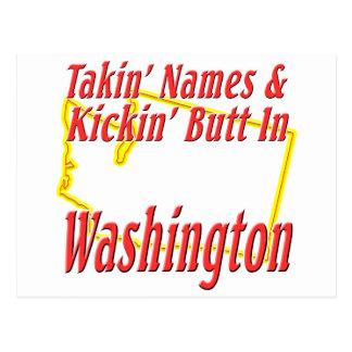 Washington - Kickin' Butt Postcard