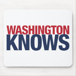 Washington Knows Mouse Pad