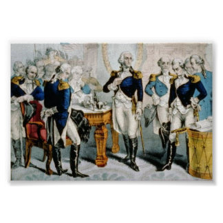Washington Leaving command of the Army Poster