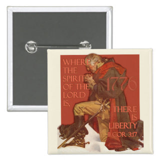 Washington- Liberty and the Spirit of the Lord 2 Inch Square Button