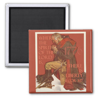 Washington- Liberty and the Spirit of the Lord 2 Inch Square Magnet
