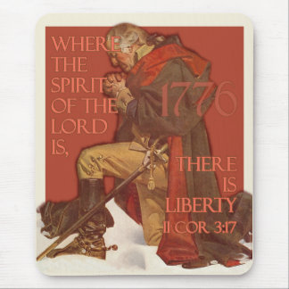 Washington- Liberty and the Spirit of the Lord Mousepads