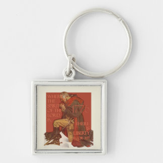 Washington- Liberty and the Spirit of the Lord Silver-Colored Square Keychain
