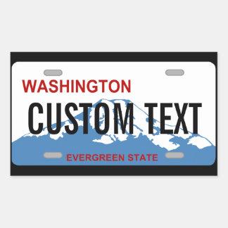 Washington license plate custom sticker