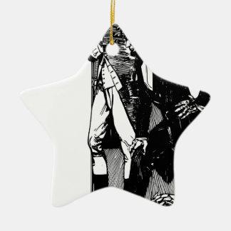 Washington Lincoln Adorno Navideño De Cerámica En Forma De Estrella