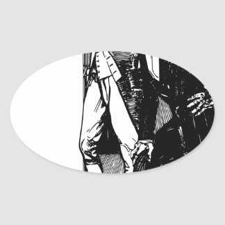 washington lincoln oval sticker